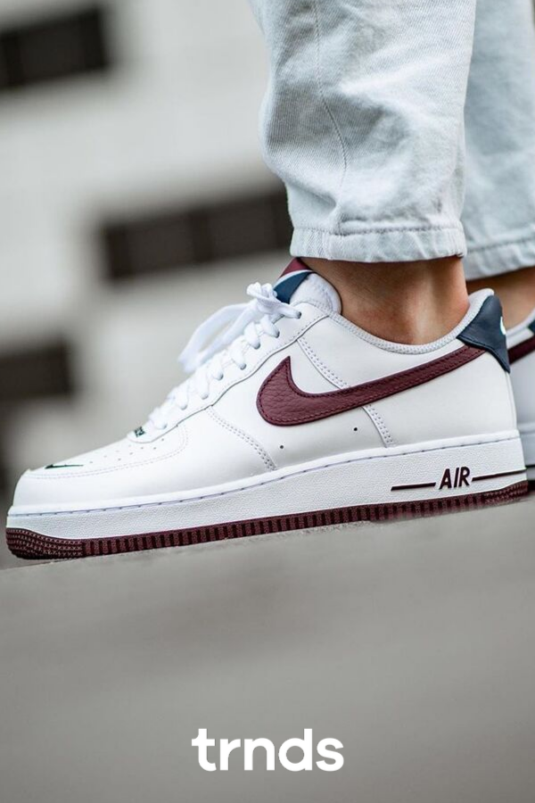 Nike Air Force 1 07 Lv8 1 White Night Maroon For Men Sneakers Sneakers Men Sneaker Collection