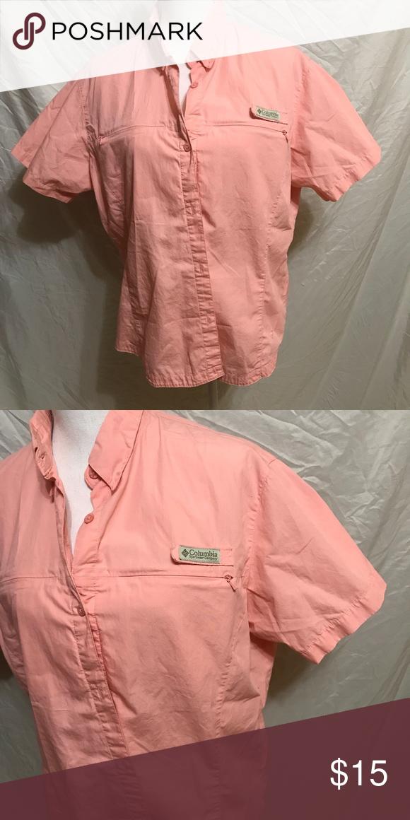 52f9f8e5d95 Columbia Women's Button Down Shirt Columbia Women's Button Down Shirt, Coral  Color, 100% Cotton , Size Extra Large , Columbia Tops Button Down Shirts