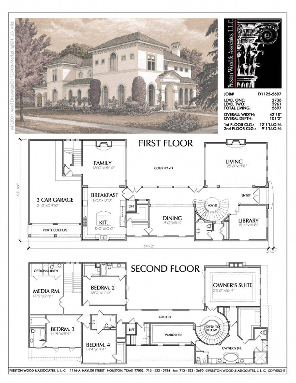 Two story custom house plan new home designers stock floor plans onl  preston wood associates homedesign also rh pinterest