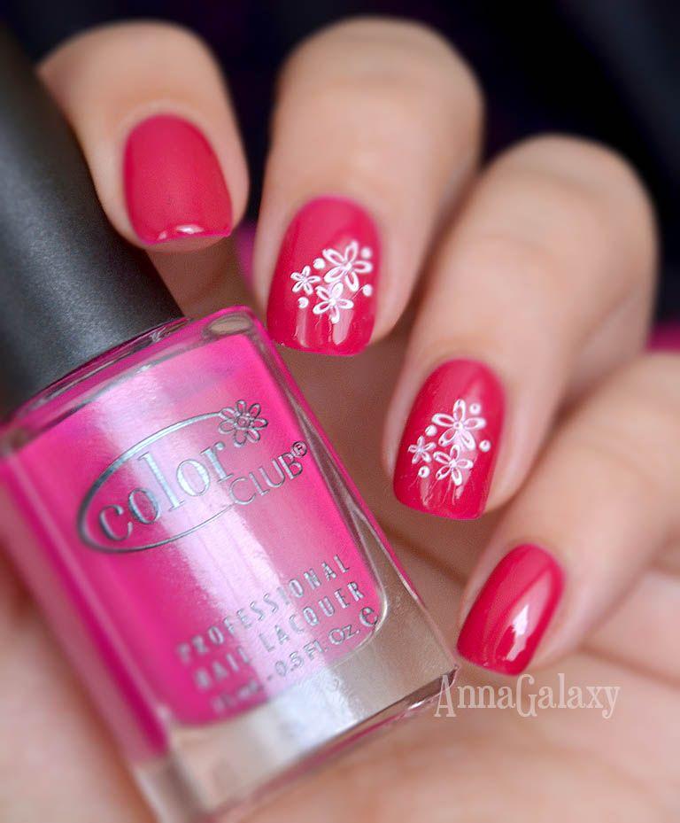 Anna Galaxy: Стемпинг. Штампы Enas, маникюр со стемпингом с лаком для ногтей Color Club Gimme a Grape Kiss