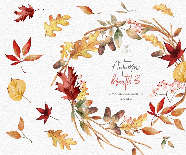 Fall Wreaths Clipart Fall Leaves Clipart Autumn Leaves Etsy Leaf Clipart Thanksgiving Wreaths Autumn Leaves