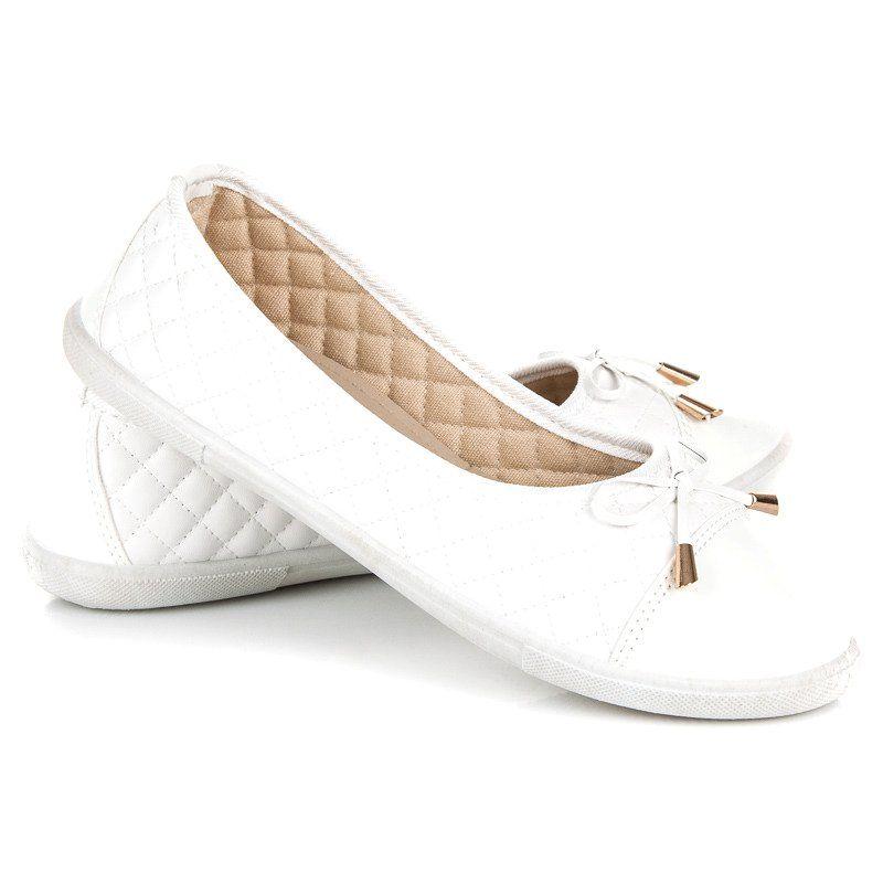 Pikowane Baleriny Biale Vans Classic Slip On Vans Classic Slip On Sneaker Vans Classic