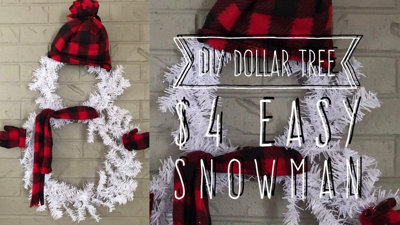 DIY Dollar Tree 4 Easy Snowman YouTube Dollar tree
