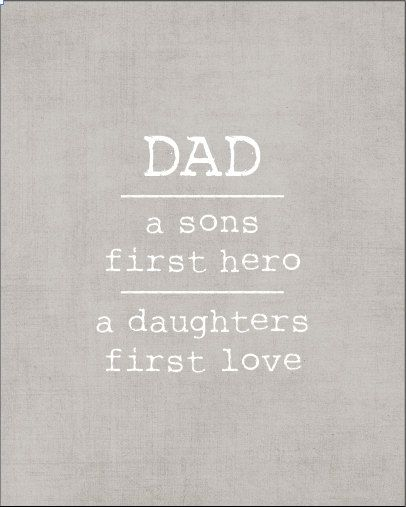 Fathers Love: Typography Print DAD A Sons First Hero A By Kardzkouture