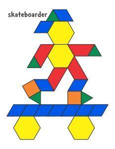 Jessica\'s Pattern Block Mats (Printables) plusieurs modèles | Free ...