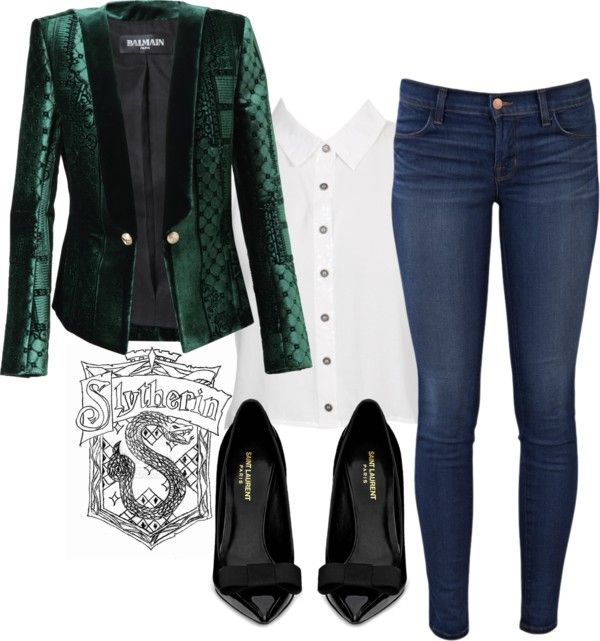 """""""Inspired by...Slytherin House"""" by classic-vintage-iconic on Polyvore"""