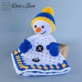 Ravelry: Snowman Lovey Security Blanket pattern by Carolina Guzman 3.99