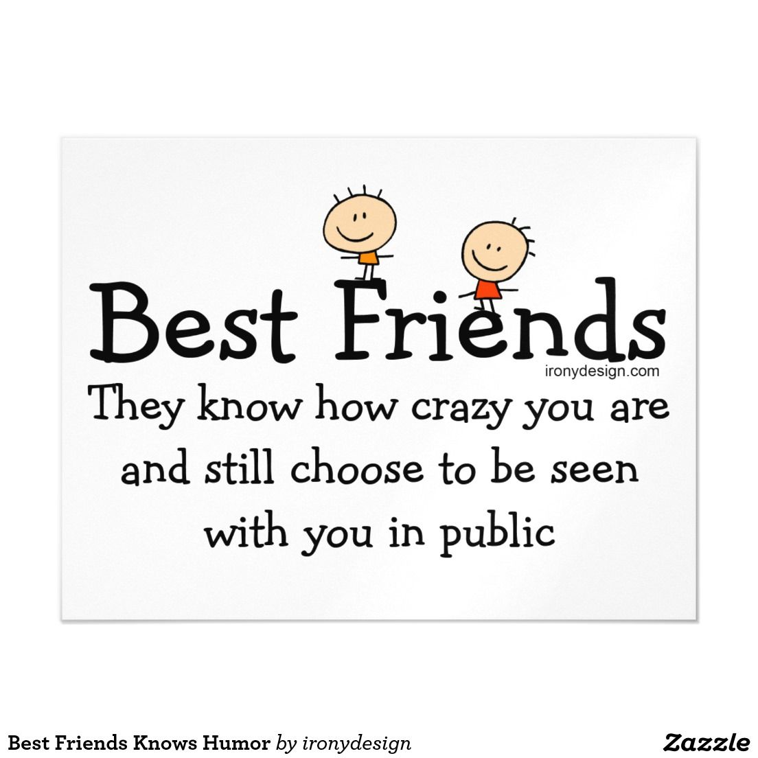 Best Friends Knows Humor Magnetic Card