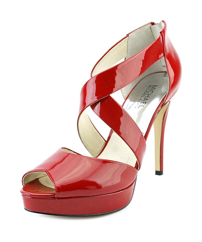 6d07b3b7413 MICHAEL MICHAEL KORS MICHAEL MICHAEL KORS ARIEL PLATFORM OPEN TOE PATENT LEATHER  PLATFORM SANDAL .  michaelmichaelkors  shoes  pumps   high heels