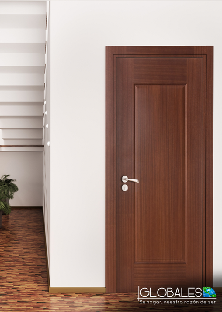Elegante puerta enchapada sapelli de 1 tablero door for Puertas de madera prefabricadas guatemala