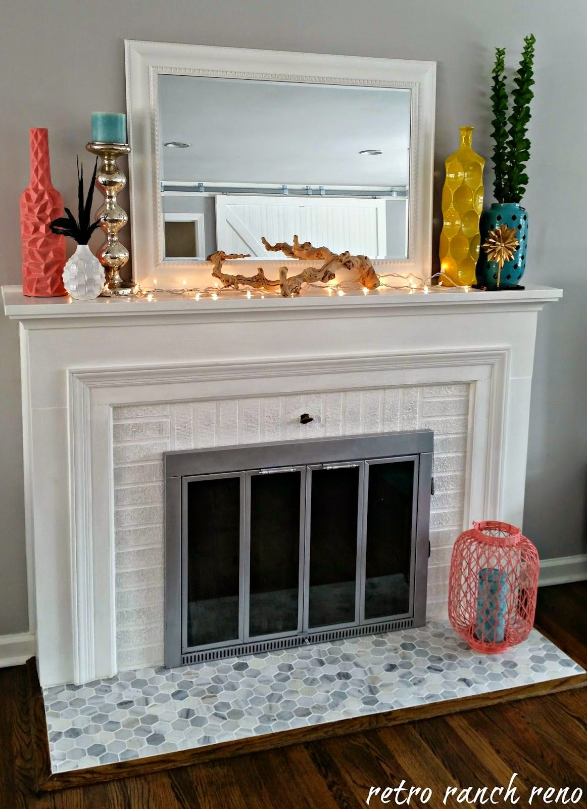 fireplace project updating the faceplate easy as seen on