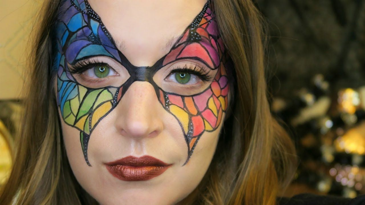 Butterfly Masquerade Mask Halloween Tutorial   Beauty and Makeup ...