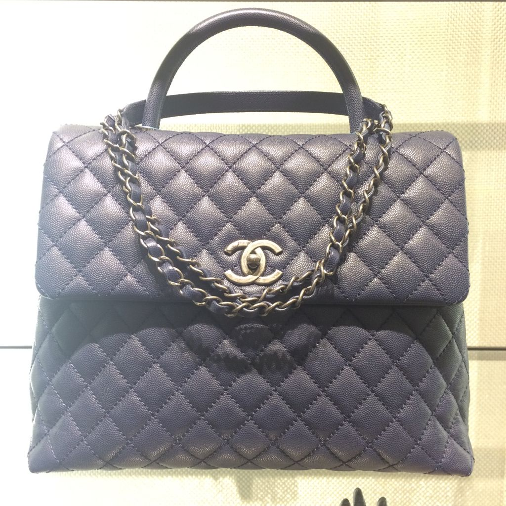 90daf914aa2fd2 Chanel Navy Coco Handle Large Bag | Chanel & Accesories | Chanel ...