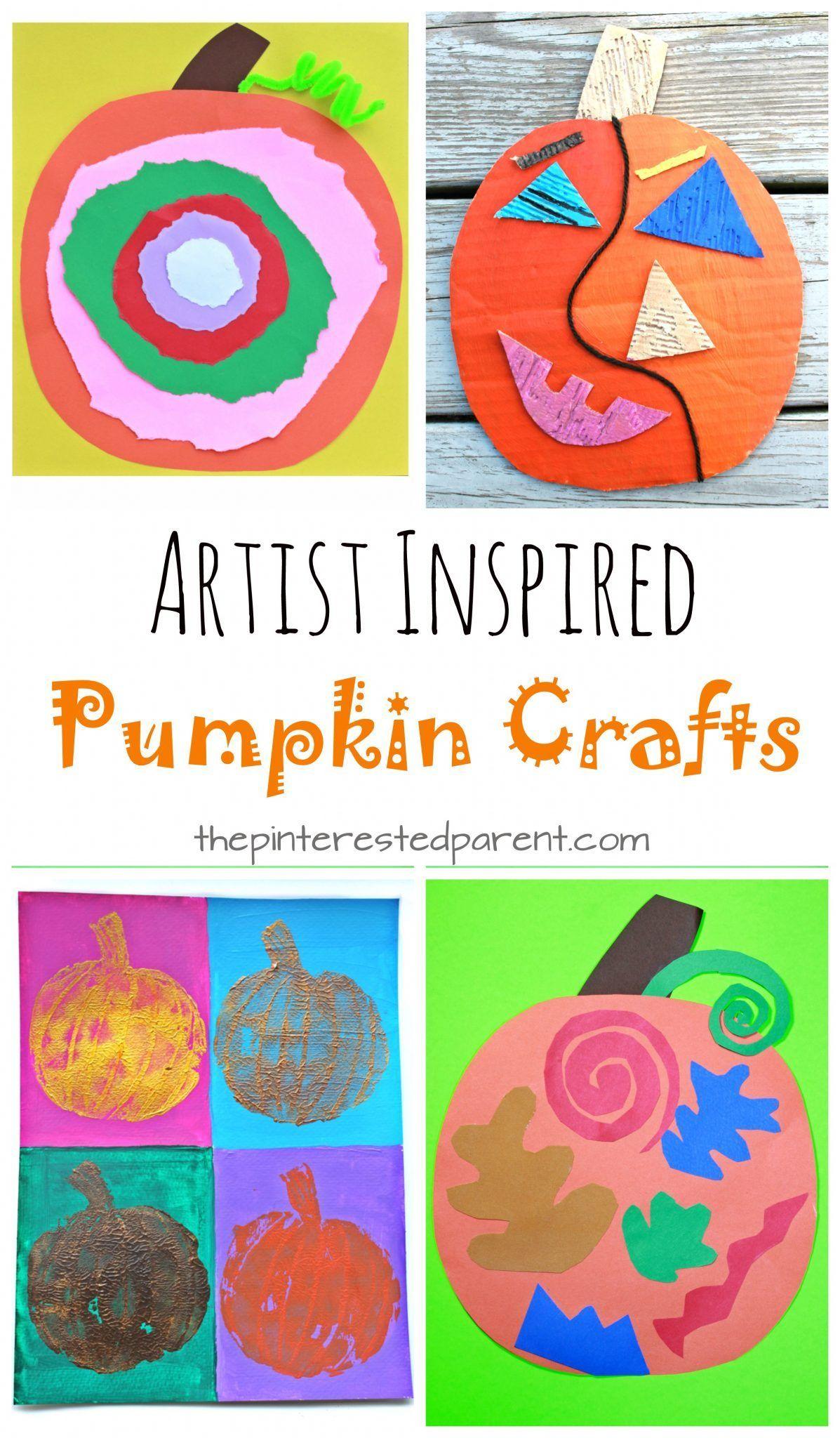 Artist Inspired Pumpkin Crafts Kids