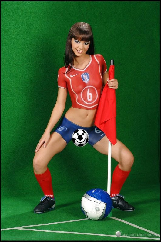 France Body Painting Soccer Finger Paint Cosplay Sport Myporn 1