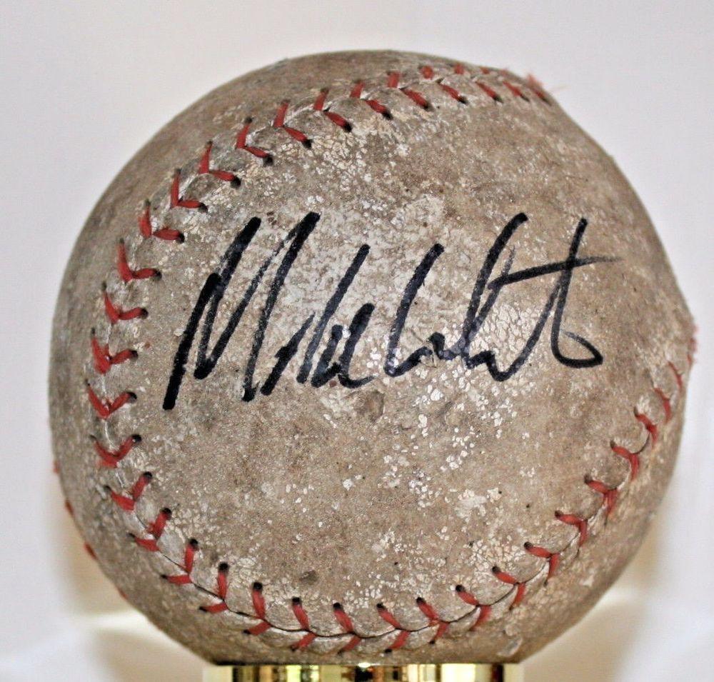 MIKE WHITE AUTOGRAPHED SOFTBALL Softball Hall of Fame Fame