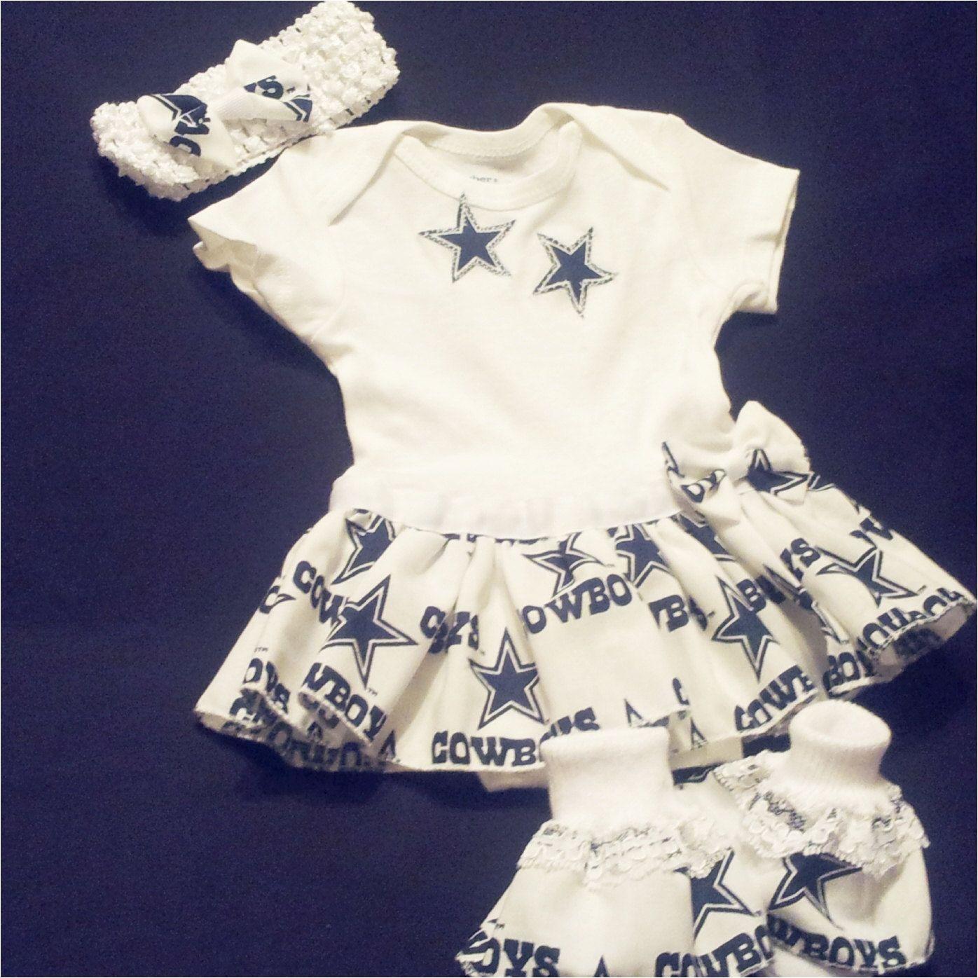 Dallas Cowboys Baby Dress Girls Onesie By Honeelou On Etsy