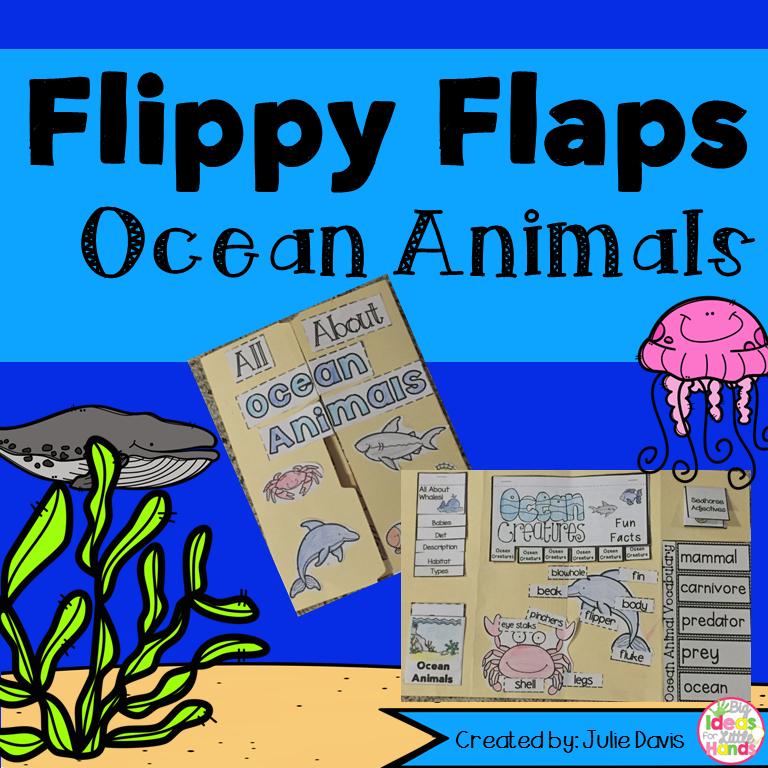 Ocean Animals Activities Interactive Notebook Lapbook | Pinterest