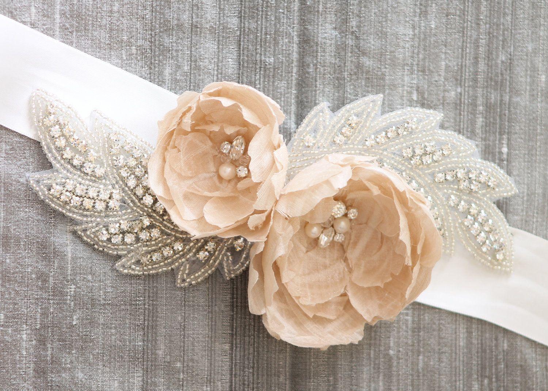 Wedding Bridal Sashes suryana sash blushing blooms champagne bridal ivory 78 images about belt on pinterest wedding dress sashes belts and belts