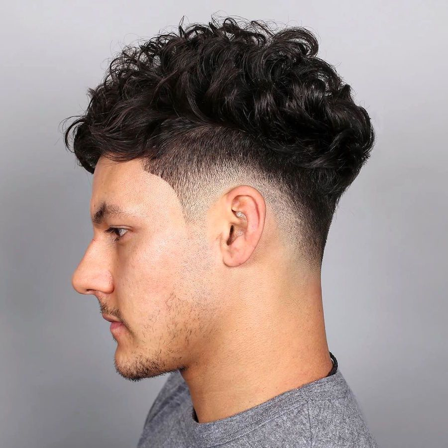 77 Best Curly Hairstyles Haircuts For Men 2020 Trends Fade Haircut Drop Fade Haircut Taper Fade Haircut