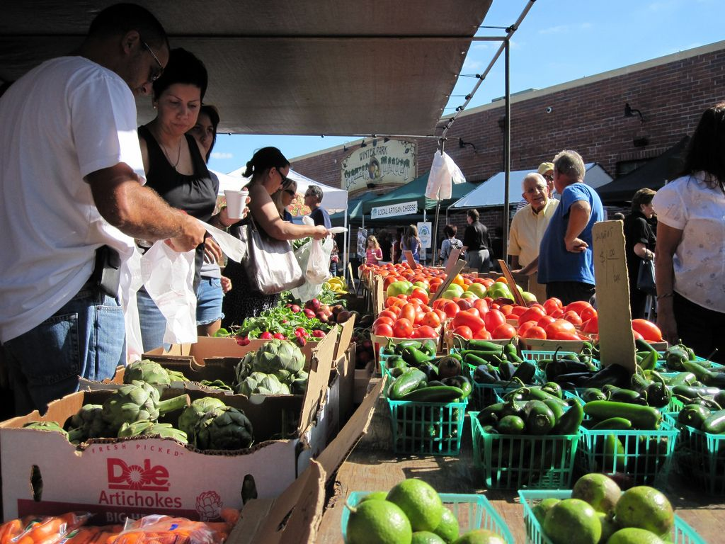 Farmers market in Orlando