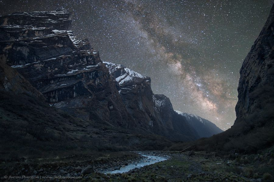 Milky Way above the Himalayas by Anton Jankovoy. So incredibly beautiful.