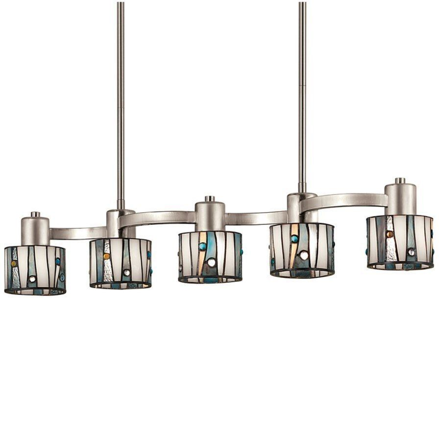 Shop Portfolio Brushed Nickel Island Light With Tiffany Style Shade At  Loweu0026 Canada. Find Our Selection Of Kitchen Island Lighting At The Lowest  Price ...