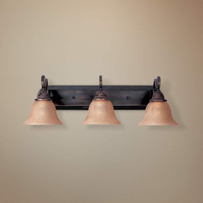 "Photo of Symphony Oil-Rubbed Bronze 26 ""Wide Bathroom Faucet – # 49454 | Lamps Plus"