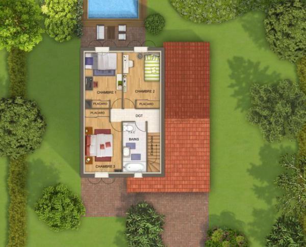 Modèle et plan de maison Duo par le constructeur TOP DUO Maison