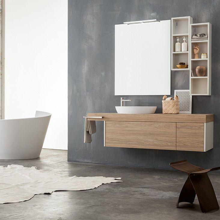Hängend-Waschtischunterschrank / Holz / modern / Kit KAMI: 08 ... | {Waschtischunterschrank modern 10}