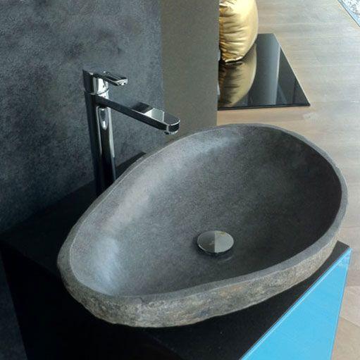 flussstein waschbecken badezimmer ideen pinterest flusssteine waschbecken und badezimmer. Black Bedroom Furniture Sets. Home Design Ideas