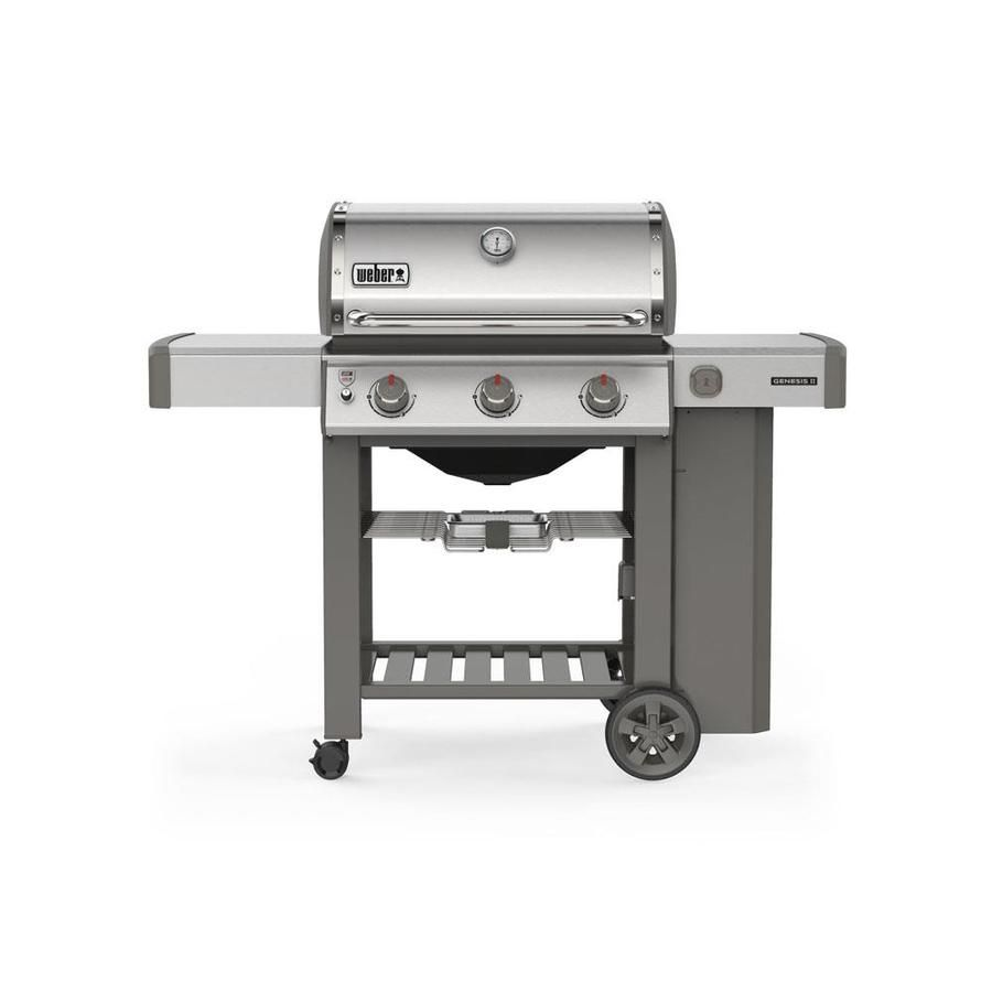 Weber Genesis Ii S 310 Stainless Steel 3 Burner Liquid Propane Gas Grill 61001001 In 2020 Weber Gas Bbq Natural Gas Grill Gas Bbq