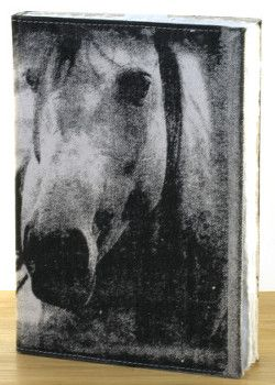 Designed by NERO and inspired by the natural beauty of the Adelaide Hills in South Australia, this beautiful horse design is hand printed on a washed canvas cover and tied by a natural leather string. Pages are handmade with rough deck-ledge edge. Available on Bonzar