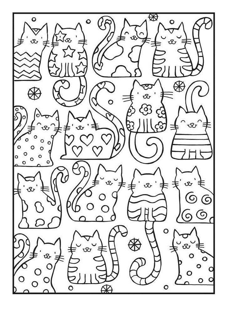 Ausmalbilder Katzen Kostenlose Malvorlagen Zum Ausdrucken Dekoking