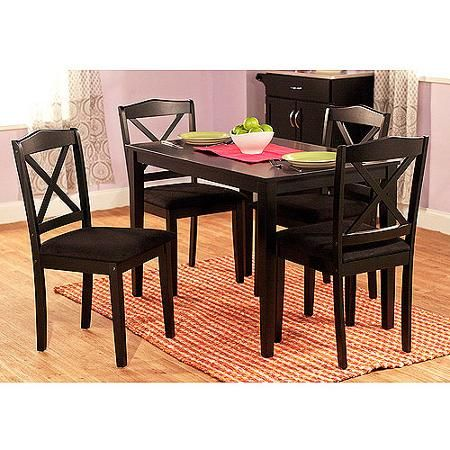 Mason 5 Piece Cross Back Dining Set, Multiple Colors