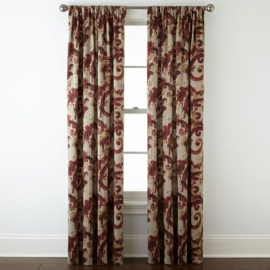 b60eb704a61 Home Expressions™ Tuscany Scroll Room-Darkening Rod-Pocket Curtain Panel  found at  JCPenney