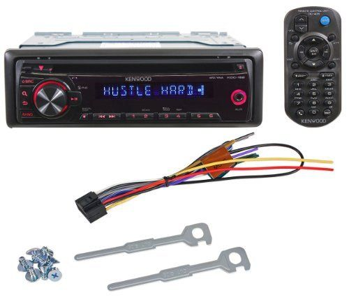 brand new kenwood kdc-152 in-dash car cd/mp3/wma stereo receiver with front  3 5mm auxiliary input & red illuminated buttons by kenwood  $64 95