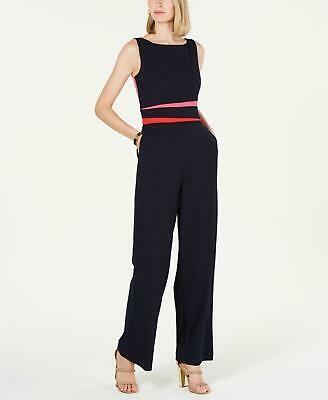 (Advertisement)eBay- Vince Camuto 0323 Size 16 Navy Blue Colorblock Jumpsuit Jumpsuit Wide-Leg $148