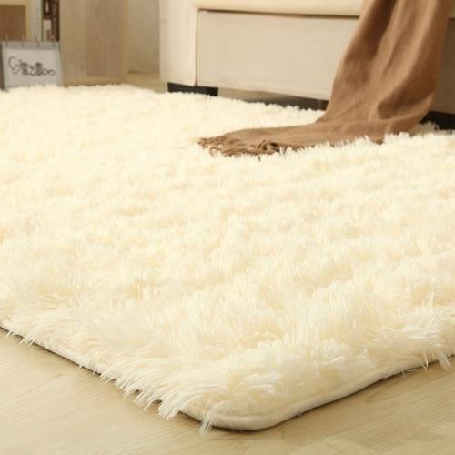 Photo of 9 farger solide tepper rosa teppe tykkere baderom sklisikker matte område teppe for stue …