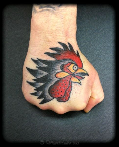 Vittoriatattoo, Gallery-Tattoo | rooster-head-on-hand ...
