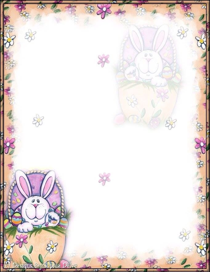 Sweet image with regard to easter stationery printable
