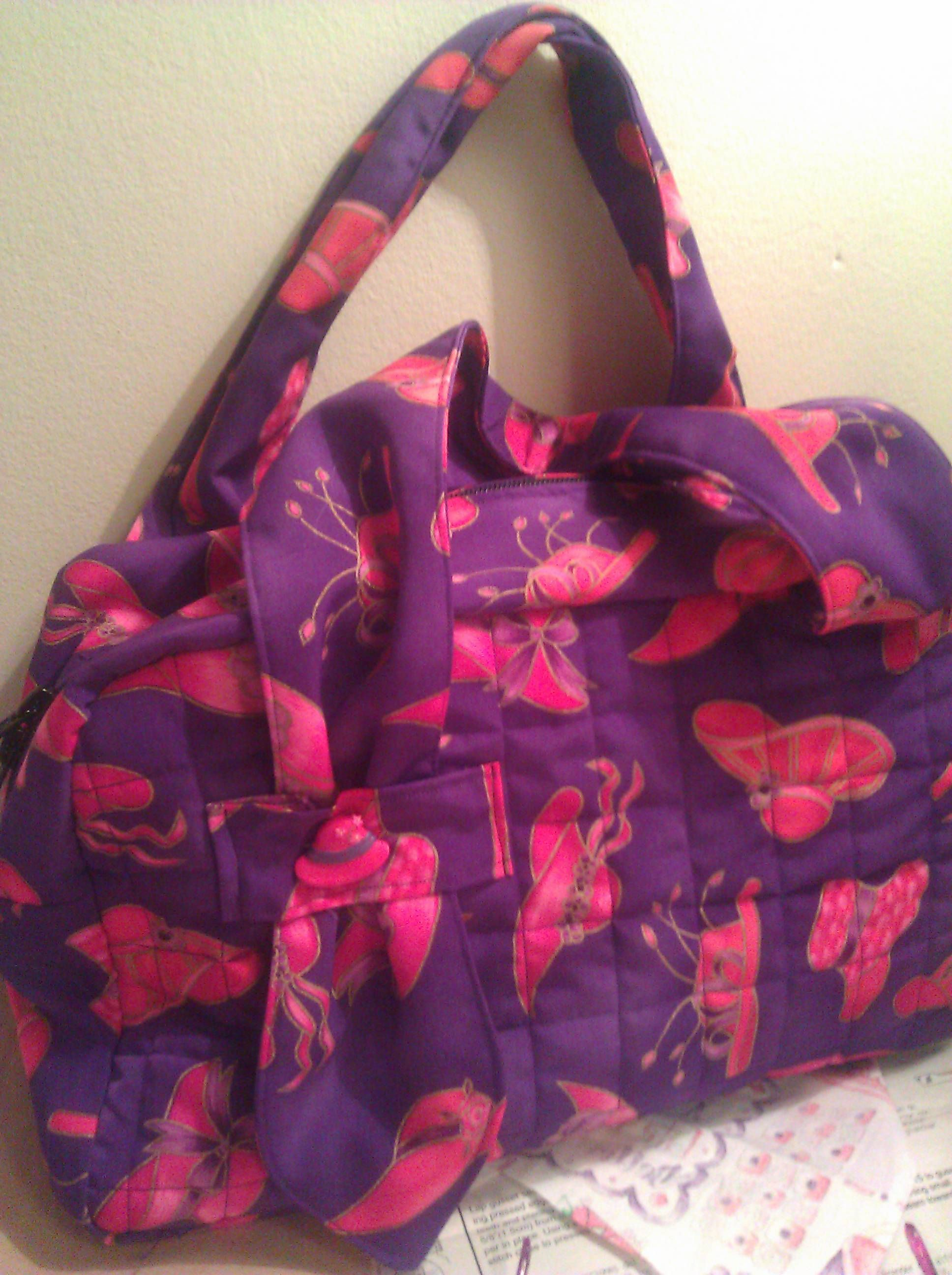 One Of My Handbags I Ve Made The Red Hat Society Bag Red Hat