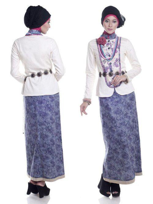 Model Baju Batik Kantor Kombinasi Kain Polos My Share Model Baju
