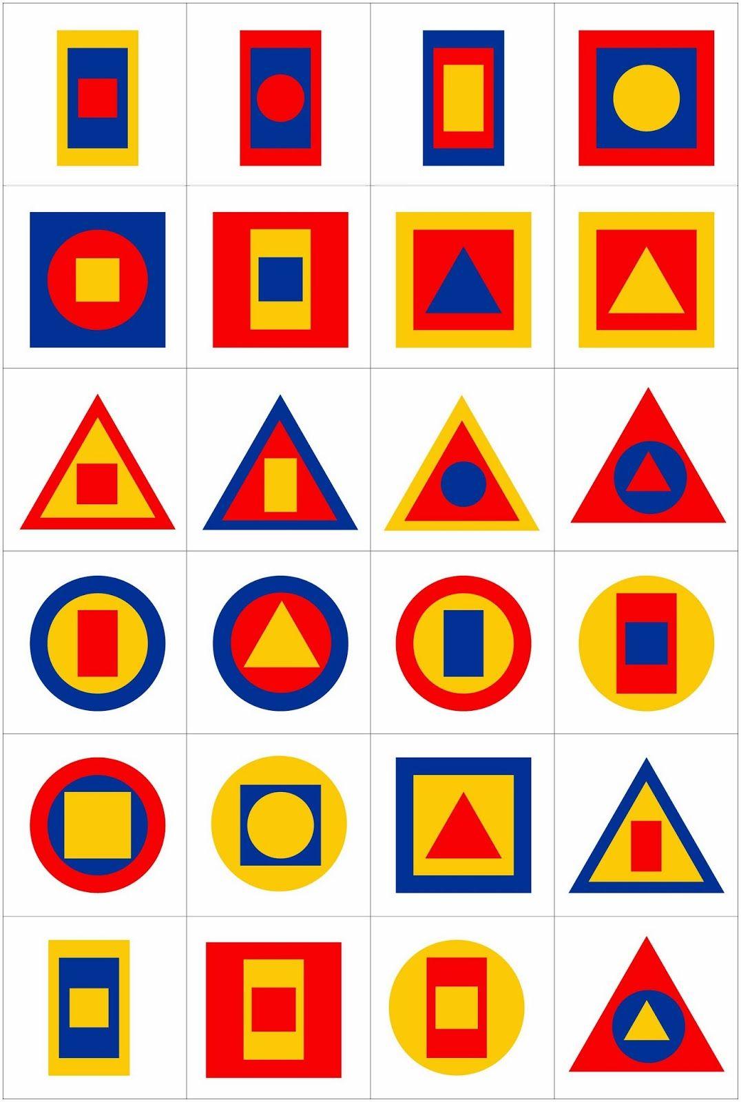 Lernstubchen Formenbingo 4 Mit 3 Formen
