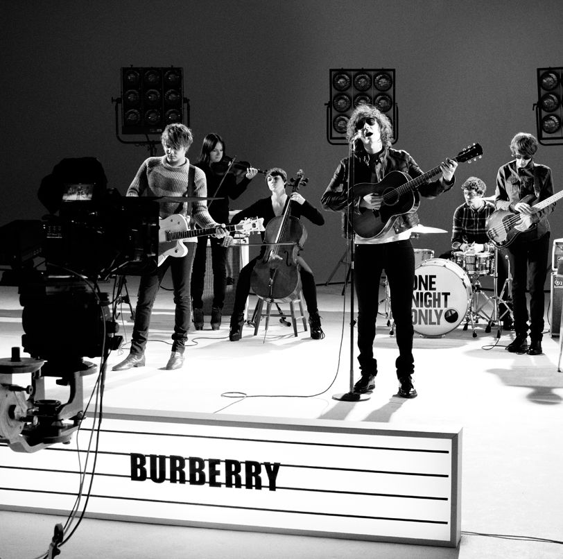 Burberry presents British band One Night Only wearing aviator sunglasses from the Spring/Summer 2012 eyewear collection