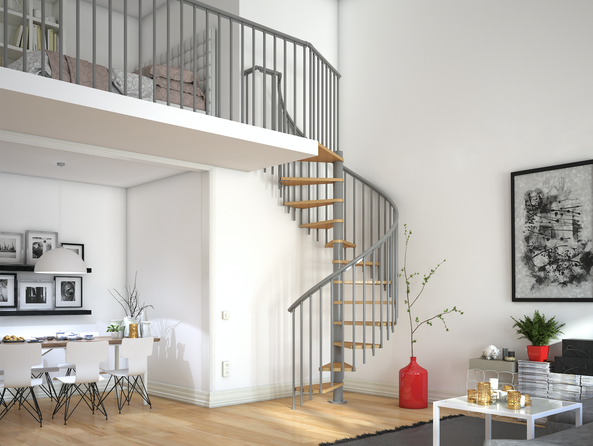 Best Dolle Spiral Staircase Nordic Design I 2019 400 x 300