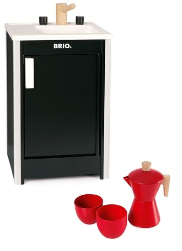 BRIO, Diskbänk med kaffeset, Paket / Sink and coffee set