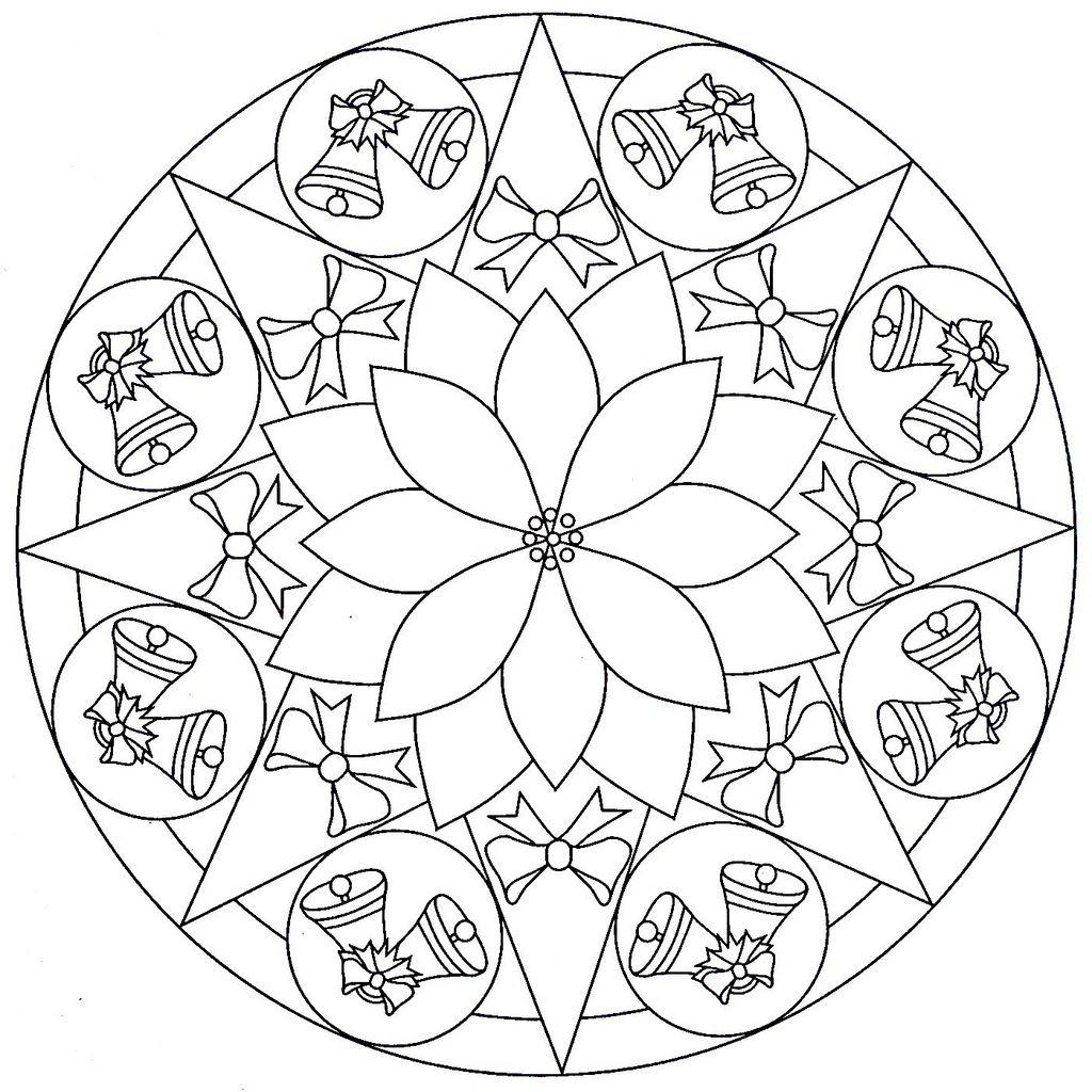 mandala natale | weihnachtsmalvorlagen, mandala ausmalen