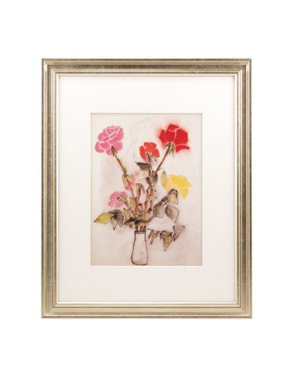 BorderTrends 11x14-Inch Framed Ha Van Vuong Roses Fine Art Print ...