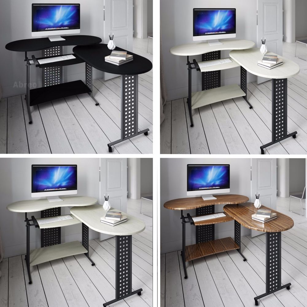 Cool New L Shape Folding Computer Pc Table Home Study Office Home Interior And Landscaping Palasignezvosmurscom